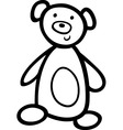 teddy bear for coloring book vector image vector image