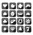 the set flat casino icons vector image