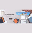 university student workplace e-learning online vector image vector image