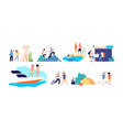 vacation activities women family travel vector image vector image
