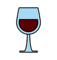 wine glass cup vector image vector image
