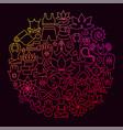 yoga line icon circle concept vector image