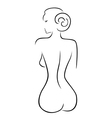 Abstract sexy woman sitting back vector image