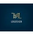 Abstract universal premium logo design Creative vector image