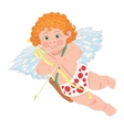 Cupid character Template for greeting card vector image