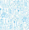 Medical seamless pattern vector image