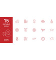 15 coin icons vector image vector image