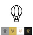 air balloon icon vintage airship sign vector image