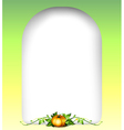 An empty signage with a pumpkin vector image vector image