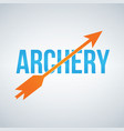 archery logo design template isolated on white vector image vector image