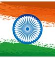 ashoka chakra indian with flag painted