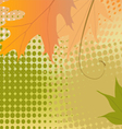 Autumn Background Multicolored Leaves vector image