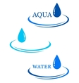 background with water drop sign vector image
