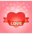 Big love heart on pink vector image vector image