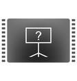 blackboard icon flat design vector image vector image