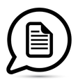 bubble with document icon vector image vector image