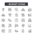 budget line icons for web and mobile design vector image vector image
