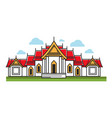 building with red roof vector image vector image