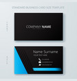 business corporate card template design vector image