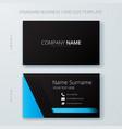 business corporate card template design vector image
