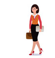 business woman in suit emotions poses vector image vector image