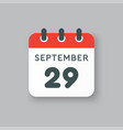 calendar icon day 29 september template date days vector image vector image