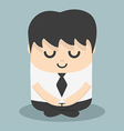Calm businessman meditating vector image vector image