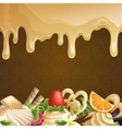 Caramel sweets background vector image vector image