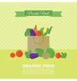 card with fresh fruits and vegetables vector image