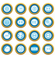 clothes button icons set simple style vector image vector image