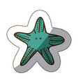 color starfish icon stock vector image vector image