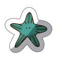 Color starfish icon stock