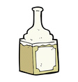 comic cartoon whiskey bottle vector image vector image