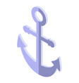 cruise anchor icon isometric style vector image vector image