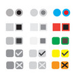 different selection buttons set selection graphic vector image