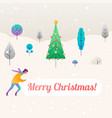 fantastic christmas background with trees template vector image vector image
