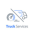 fast truck delivery distribution services vector image