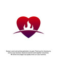 fire love creative logo concepts flame logo vector image