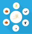flat icon festival set of spirit pumpkin gourd vector image vector image