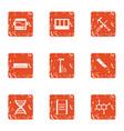 gene expression icons set grunge style vector image vector image