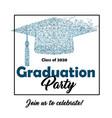graduation party - invitation vector image vector image