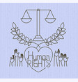 hand with heart human rights drawns vector image