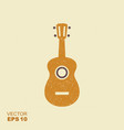 hawaii national musical instrument ukulele icon vector image vector image