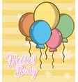 hello baby cute card vector image vector image
