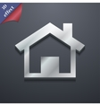 Home icon symbol 3D style Trendy modern design vector image vector image