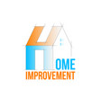 home improvement logo template vector image vector image