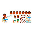 indian boy boy kindergarten kid animation vector image
