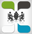 Infographic Element Business Meeting on Grayscale vector image vector image