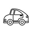 kids toy car transport plastic icon thick line vector image vector image