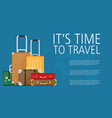 luggage set of flat colorful vector image